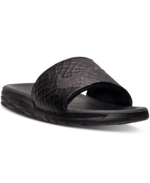 Nike Men's Benassi Solarsoft Slide 2 Sandals From Finish Line In Black