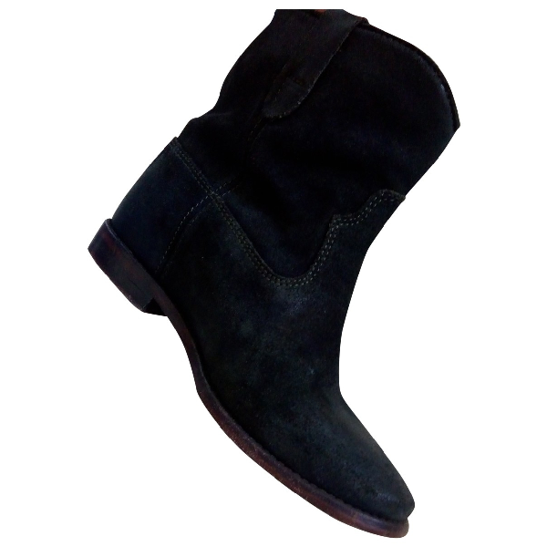 Isabel Marant Crisi  Navy Pony-style Calfskin Ankle Boots