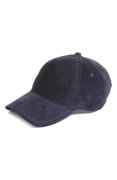 77143d2be5b20 Rag   Bone Marilyn Suede Baseball Cap - Blue In Navy Suede