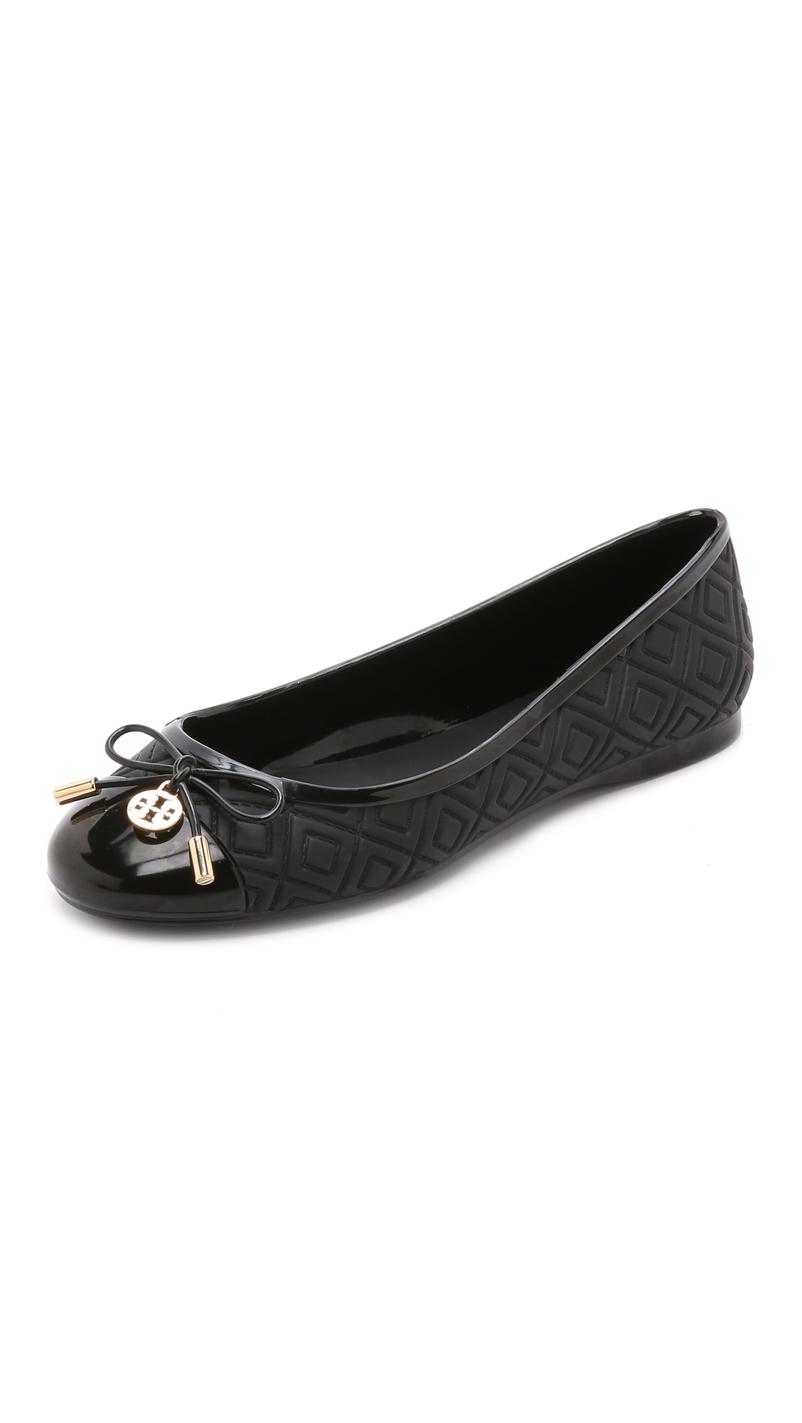 e4f86621bc2 Tory Burch Blossom Jelly Ballet Flats In Black