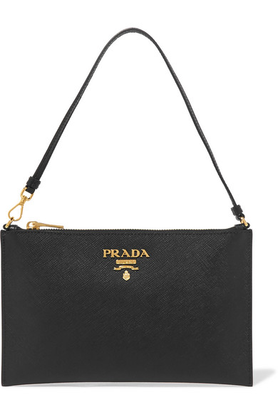 bab9896c8f4e Prada Textured-Leather Pouch In Black | ModeSens