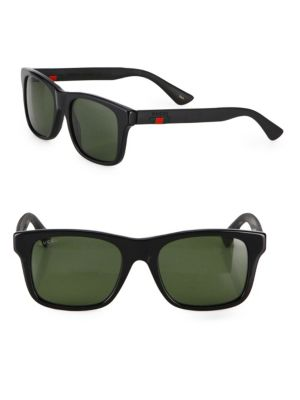 0211c444c736a Gucci Gg0008S 001 Black Square Sunglasses