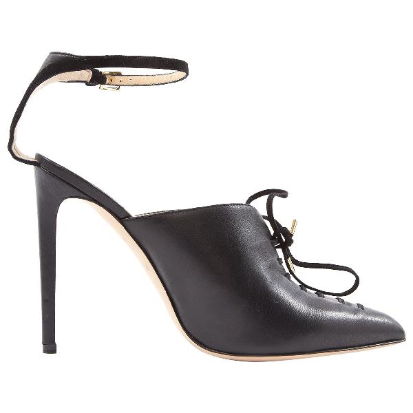 Chloe Gosselin Black Leather Heels