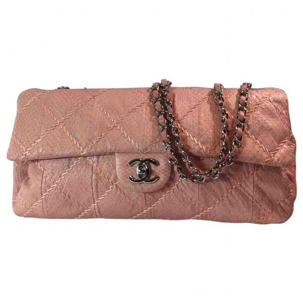 Chanel Pink Python Handbag