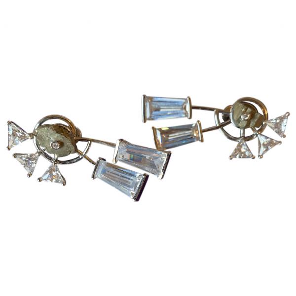 Eddie Borgo Silver Metal Earrings