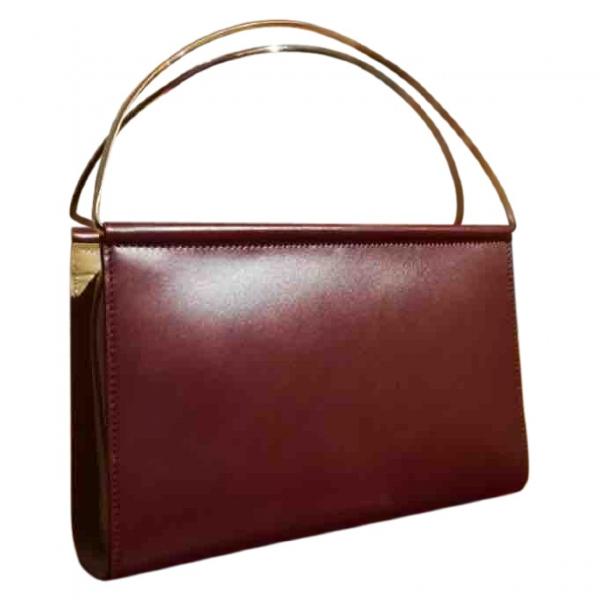 Cartier Trinity Burgundy Leather Handbag