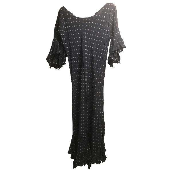 Stephan Janson Purple Silk Dress