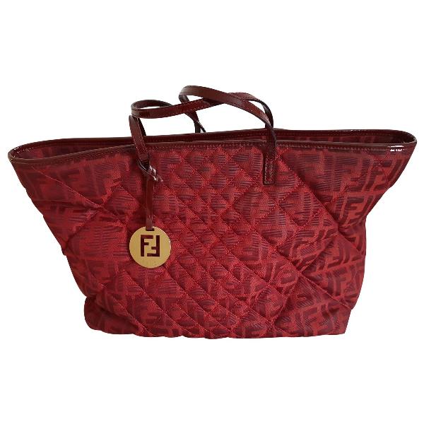 Fendi Roll Bag  Red Cloth Handbag