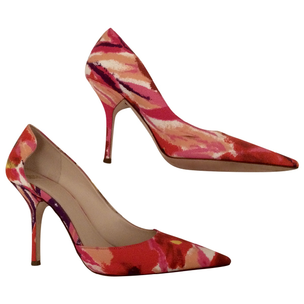 Frances Valentine Pink Cloth Heels