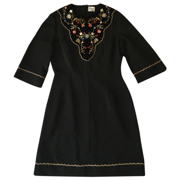 Vilshenko Black Cotton Dress