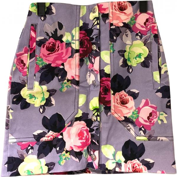 Carven Purple Cotton Skirt