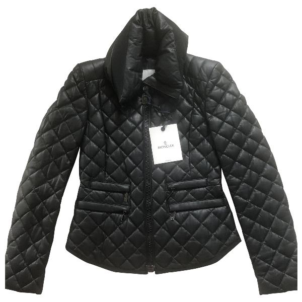 Moncler Black Leather Jacket