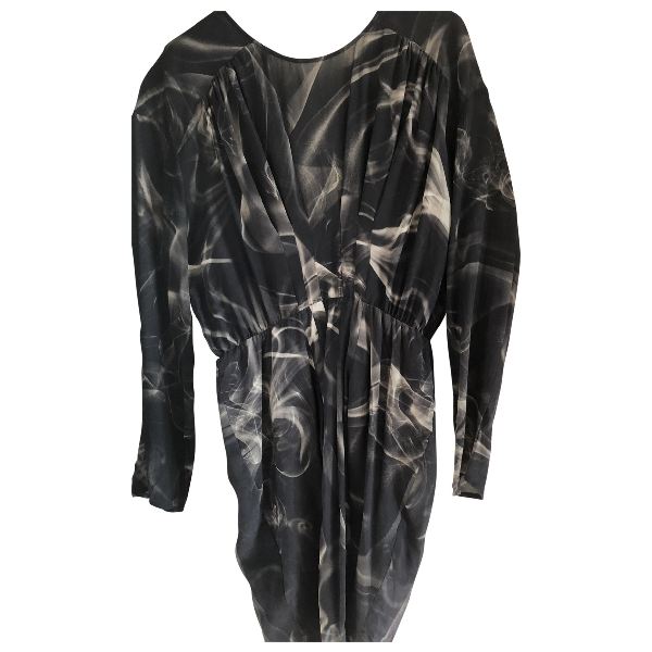 Roseanna Anthracite Silk Dress