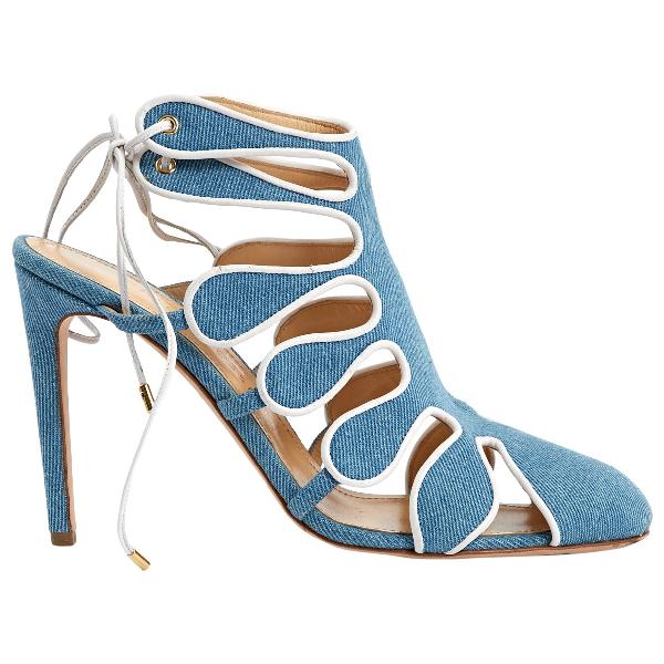 Chloe Gosselin Blue Cloth Heels
