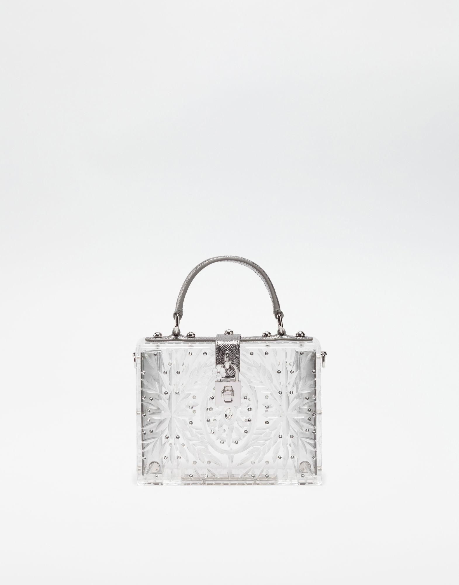 5ffdffe5e3 Dolce   Gabbana Plexiglass Dolce Box Bag With Crystals In Transparent