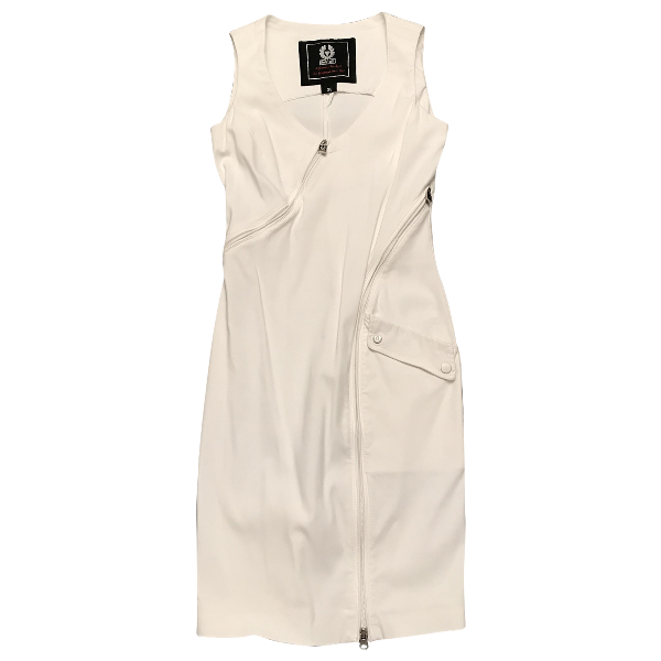 Belstaff White Cotton Dress