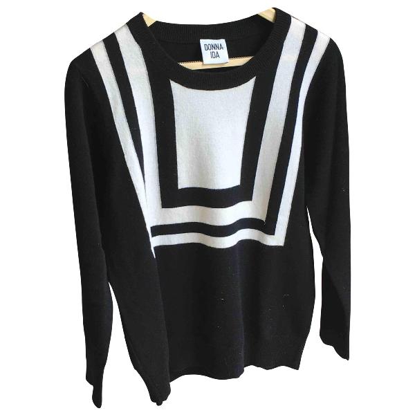 Donna Ida Black Cashmere Knitwear