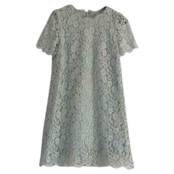 Dolce & Gabbana Green Lace Dress
