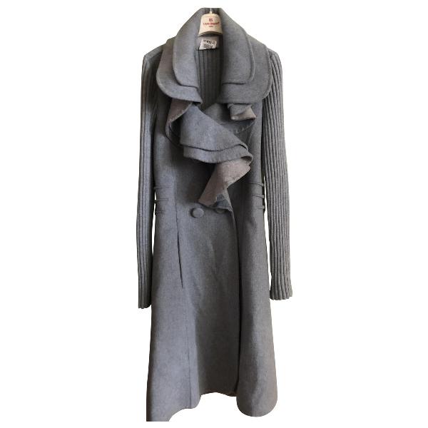 Luisa Beccaria Grey Cashmere Coat