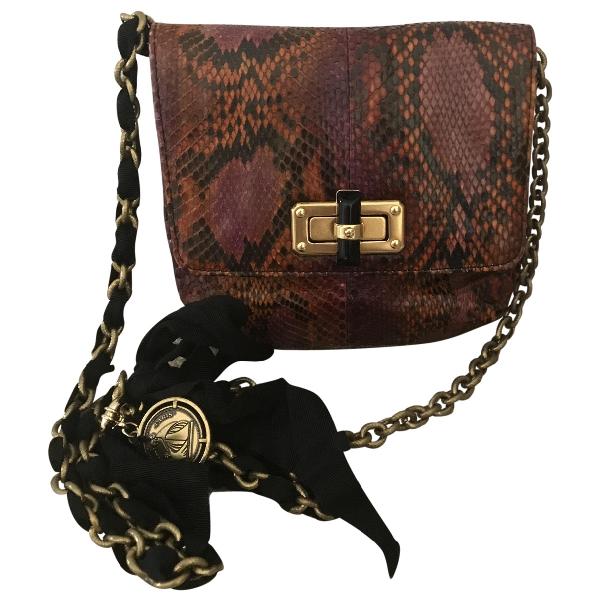 Lanvin Happy Python Handbag