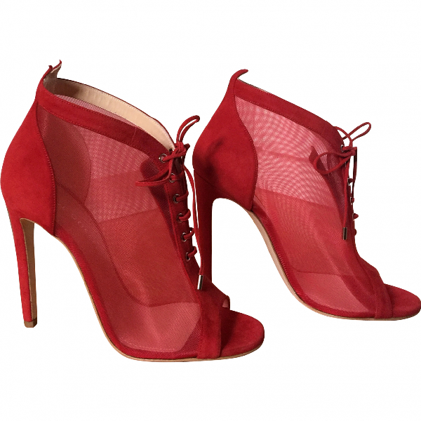 Chloe Gosselin Red Cloth Heels