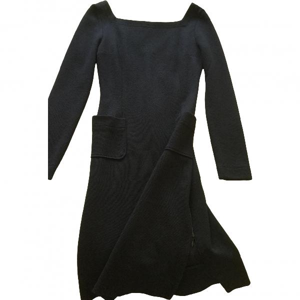 Stephan Janson Black Wool Dress