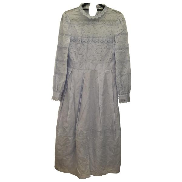 Vilshenko Blue Cotton Dress