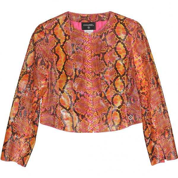 Chanel Multicolour Python Jacket