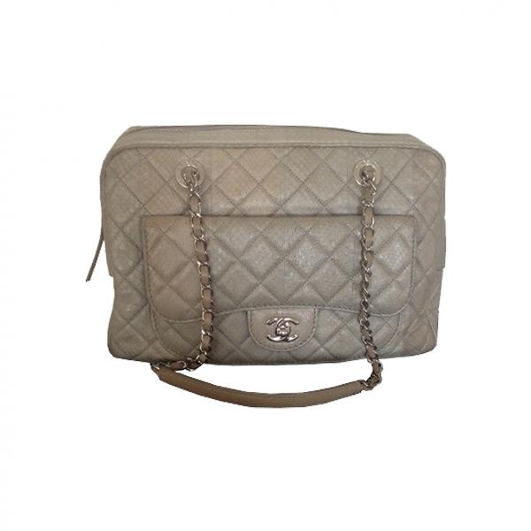 Chanel White Python Handbag