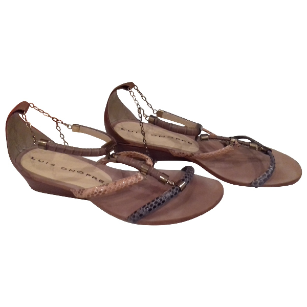 Luis Onofre Multicolour Leather Sandals