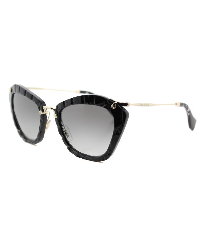 f8224c5bb898c Miu Miu Noir Catwalk Cat Eye Sunglasses In Black Grey Black