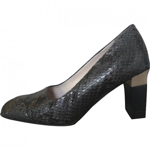 Chanel Python Heels