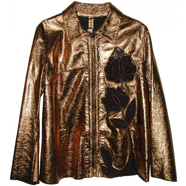 Blumarine Gold Leather Jacket