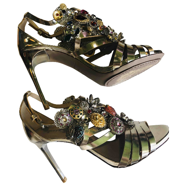 Luis Onofre Metallic Leather Sandals