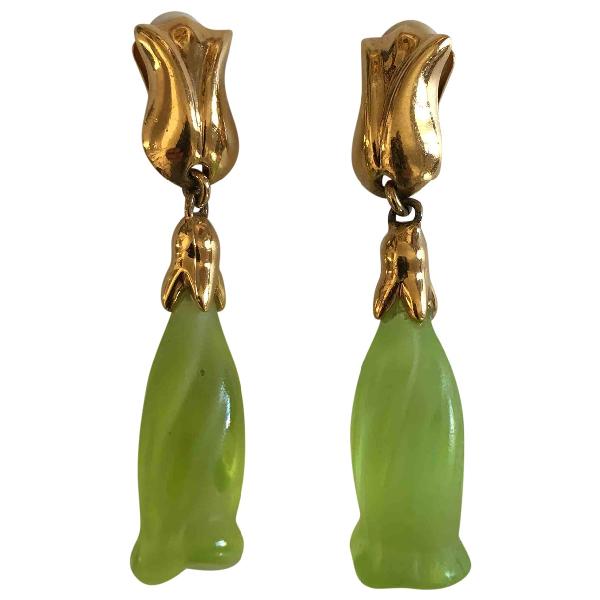 Daum Gold Metal Earrings
