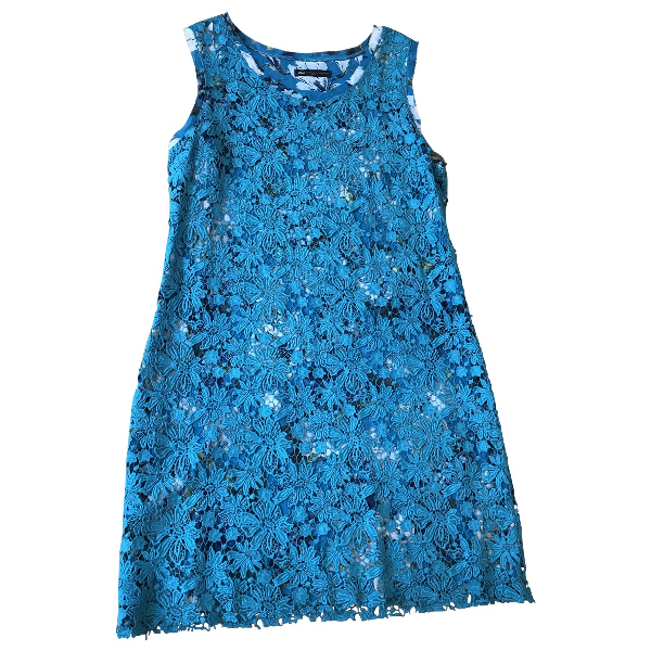 Daniele Alessandrini Blue Cotton Dress