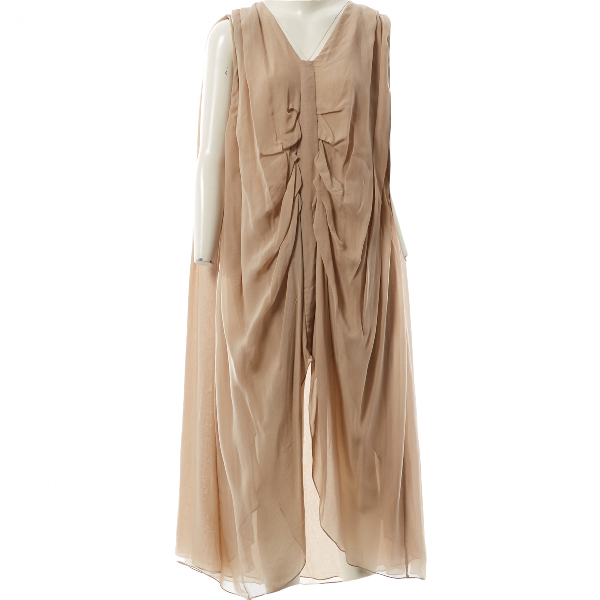 Lala Berlin Beige Silk Dress