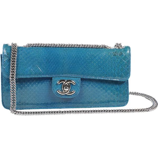 Chanel Blue Python Handbag