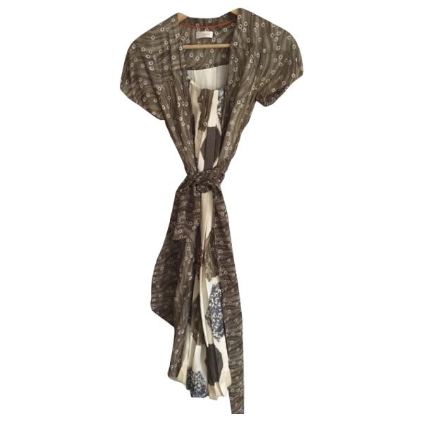 Wunderkind Khaki Silk Dress