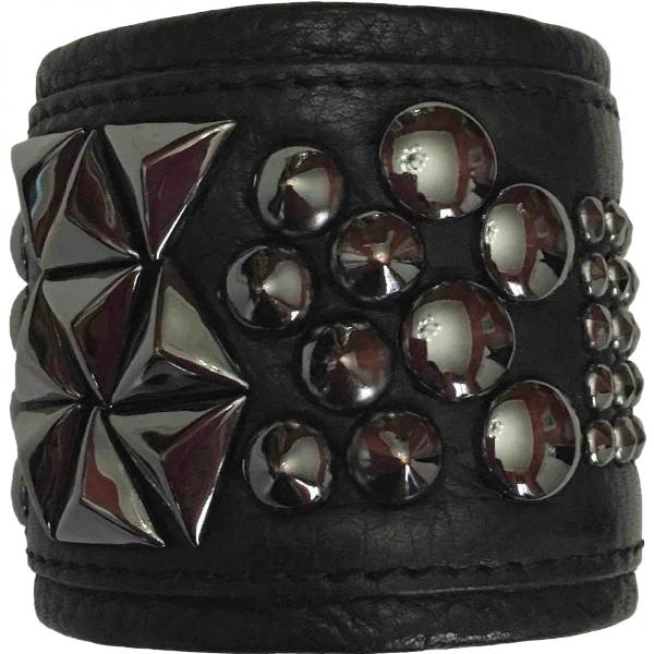 Eddie Borgo Black Leather Bracelet