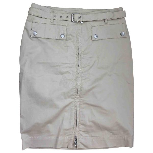 Belstaff Beige Cotton - Elasthane Skirt