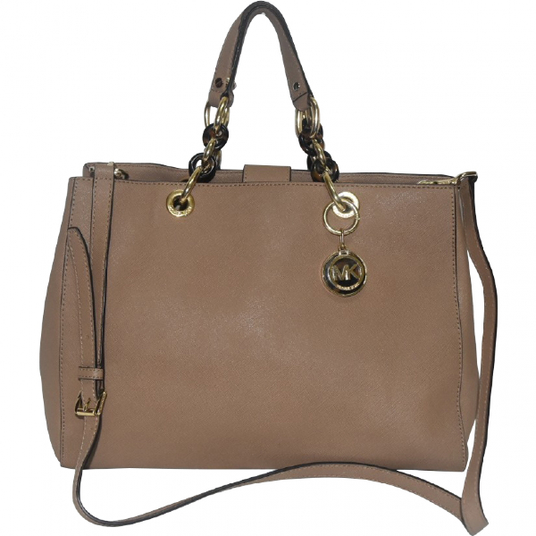 Michael Kors Cynthia Brown Leather Handbag