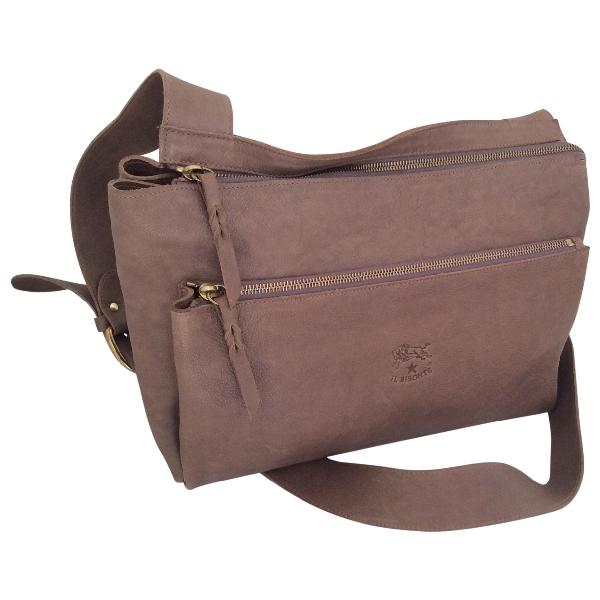 Il Bisonte Grey Leather Handbag