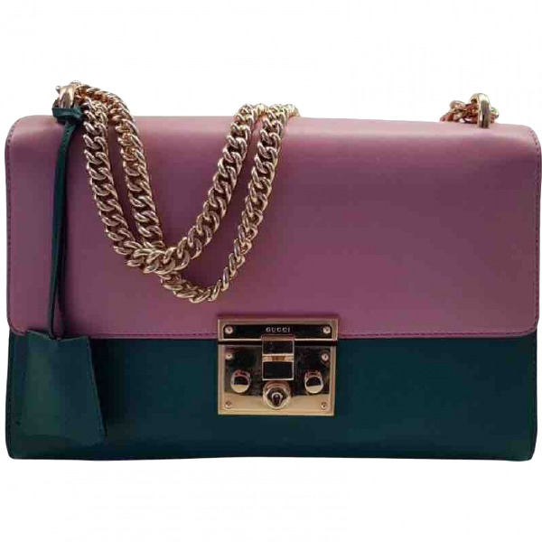 Gucci Padlock Green Leather Handbag
