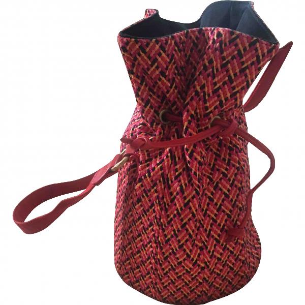 Robert Clergerie Red Cotton Handbag
