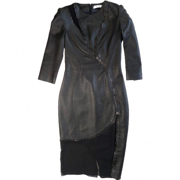 Altuzarra Black Leather Dress