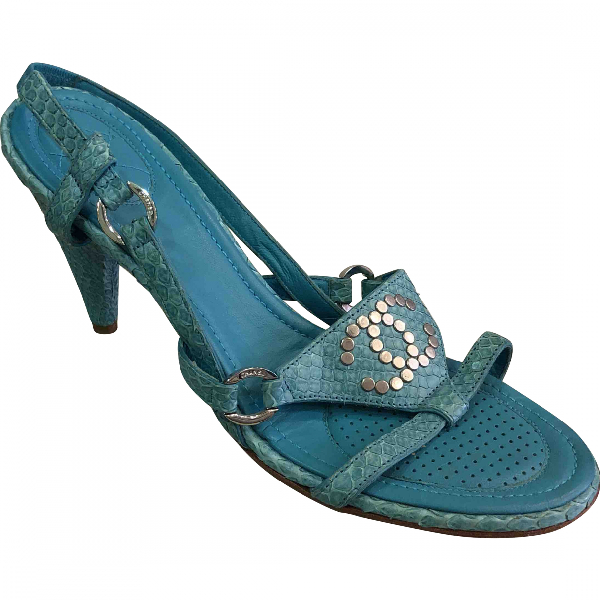 Chanel Python Sandals