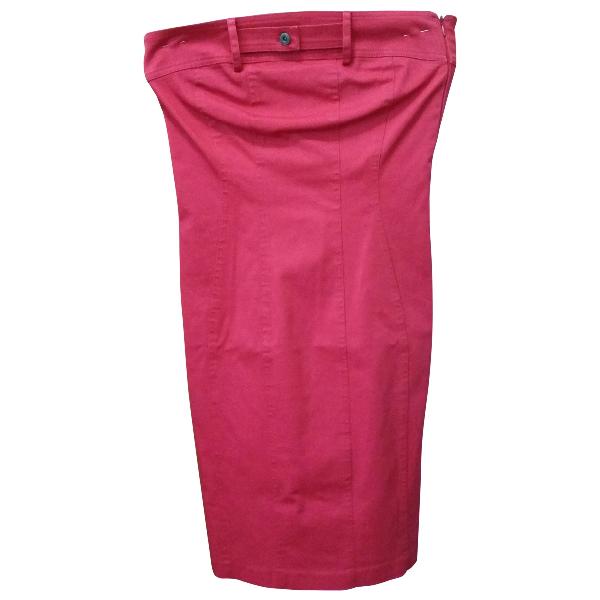 Daniele Alessandrini Red Cotton - Elasthane Dress