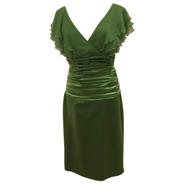 Luisa Beccaria Green Silk Dress