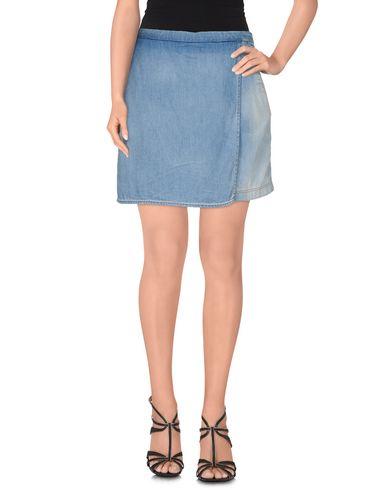 Just Cavalli Denim Skirt In Blue